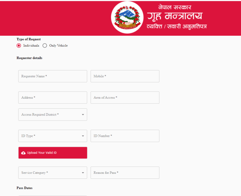 COVID-19 || Nepal Government Starts E-Pass for Operating Most Essential Vehicles