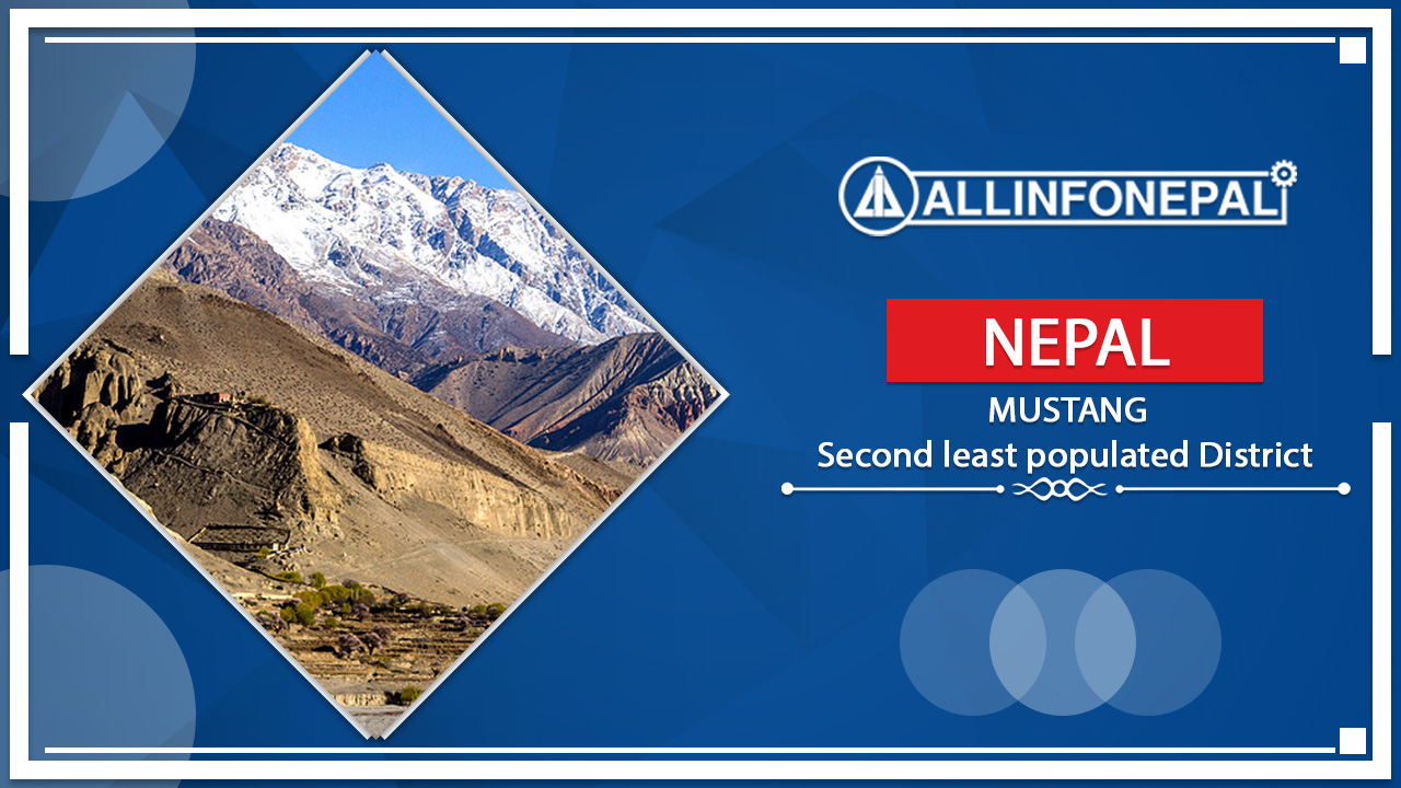 Mustang    The Second least populated District of Nepal