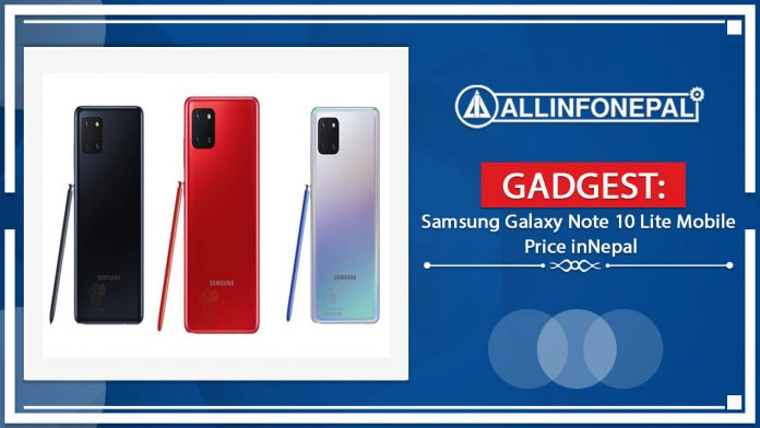 Samsung Galaxy Note 10 Lite Mobile Price in Nepal