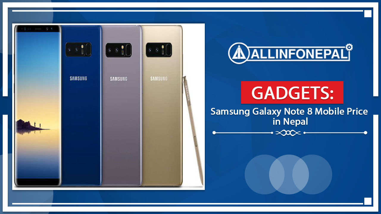 Samsung Galaxy Note 8 Mobile Price in Nepal