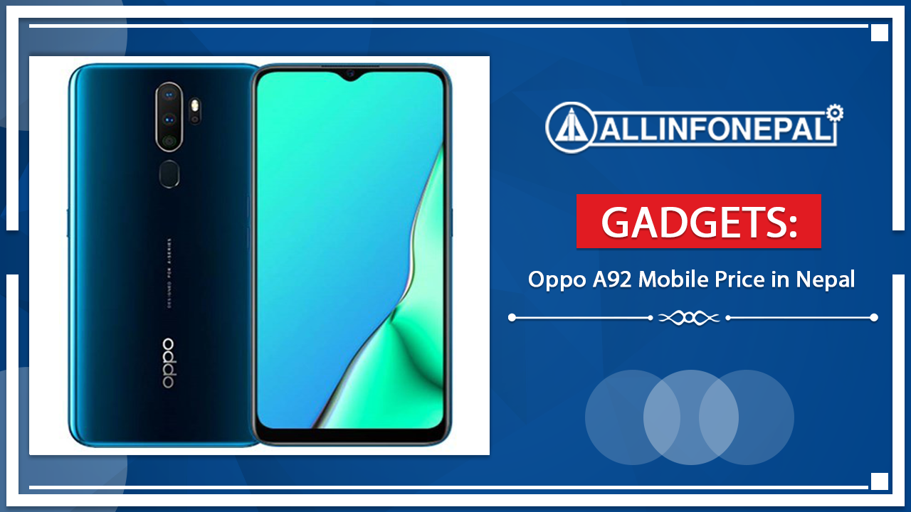 Oppo A92 Mobile Price in Nepal