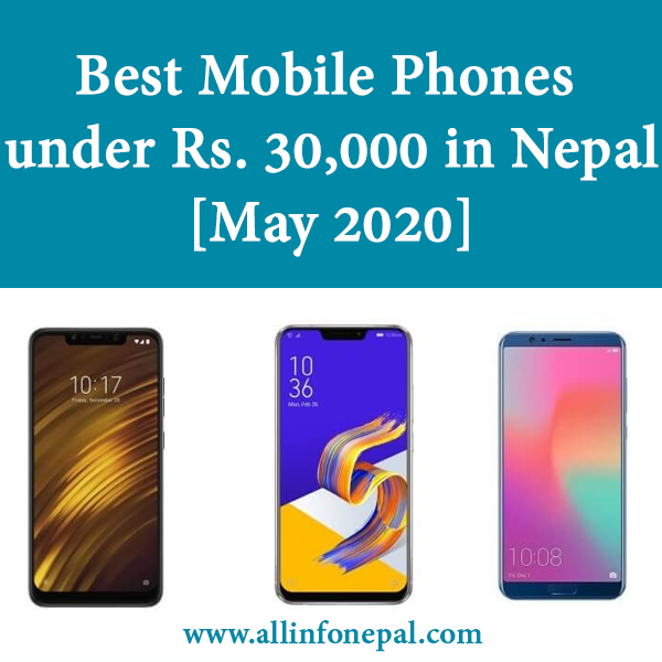 Best Mobile Phones under Rs. 30,000 in Nepal