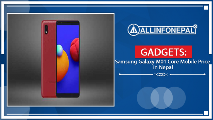Samsung Galaxy M01 Core Mobile Price in Nepal