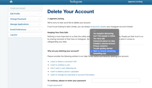 How to delete your Instagram account permanently?