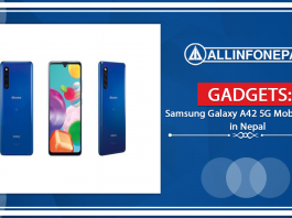 Samsung Galaxy A42 5G Mobile Price in Nepal